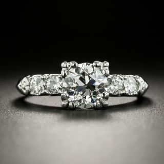 Mid-Century .99 Carat Diamond Engagement Ring - GIA J VS2 - 2