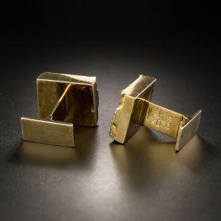 Mid-Century Brutalist Pyrite Cufflinks by Bjorn Weckstrom