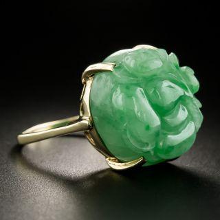 Mid-Century Carved Jade Ring