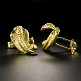 Mid-Century Cobra Cufflinks