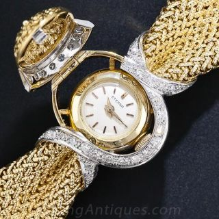 Mid-Century Diamond Bracelet Watch