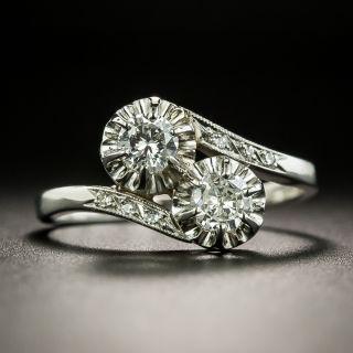 Mid-Century Diamond Bypass Ring - 2