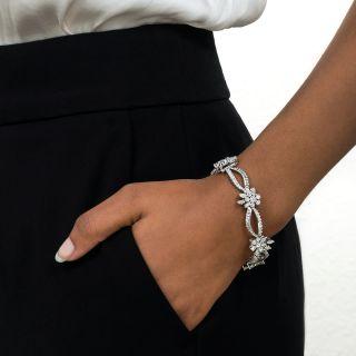 Mid-Century Diamond Cluster Bracelet