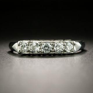 Mid-Century Diamond Five-Stone Band Ring - 2