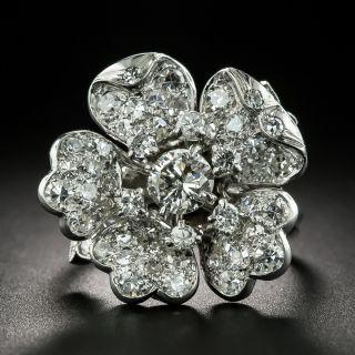 Mid-Century Diamond Flower Ring - 2