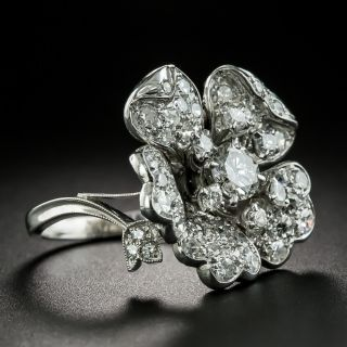 Mid-Century Diamond Flower Ring