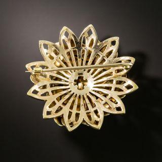 Mid-Century Enamel Flower Pin