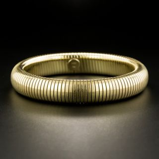 Mid-Century Gas Pipe Flexible Bangle Bracelet