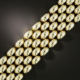 Mid Century Gold Link Bracelet