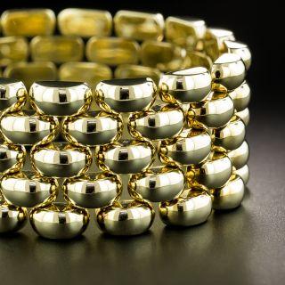 Mid Century Gold Link Bracelet - 3