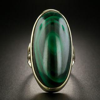 Mid-Century Malachite Ring - 2