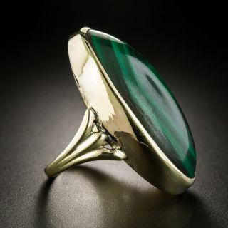 Mid-Century Malachite Ring