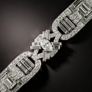 Mid-Century Modern Platinum Diamond Bracelet - 2