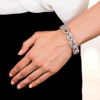 Mid-Century Modern Platinum Diamond Bracelet