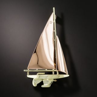 Mid-Century Sailboat Pin
