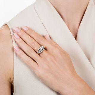 Mid-Century Three-Stone Diamond Ring