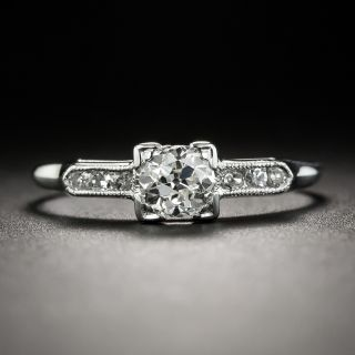 Petite Vintage .30 Carat Diamond Engagement Ring - 2