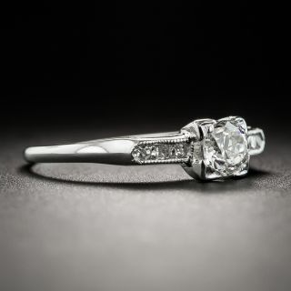 Mid-Century .30 Carat Diamond Engagement Ring