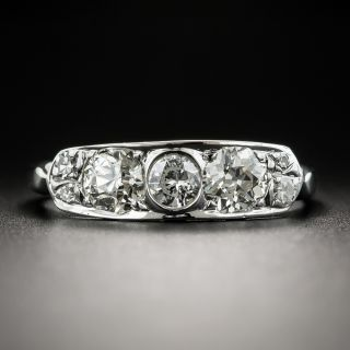 Mid-Century Vintage Diamond Band Ring by Delta - 2