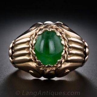 Mid-Century Vintage Jade Ring