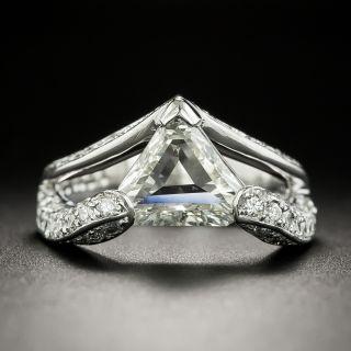 Modern 1.01 Carat Triangular Step Cut Diamond Ring - GIA K SI2 - 3