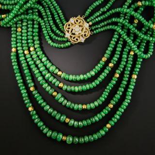 Multi-Strand Tsavorite Garnet Necklace