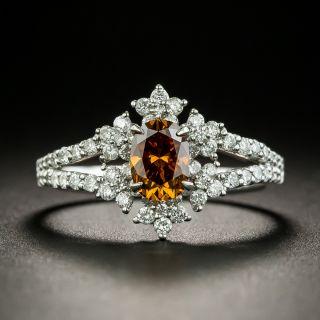 Natural .67 Carat Cinnamon Colored Diamond Ring - GIA - 2
