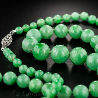 Natural Apple Green Jade Beads