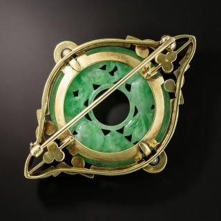 Natural Burmese Jade Brooch by Carter, Gough, and Co.