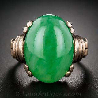 Natural Burmese Jade Ring