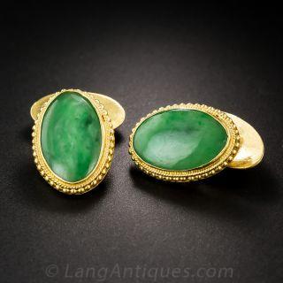 Natural Burmese Jadeite Cufflinks