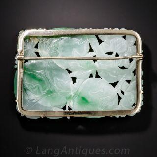 Natural Carved Jadeite Brooch