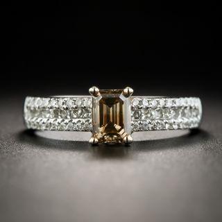 Natural Fancy Brown .86 Carat Emerald-Cut Diamond Ring - 1