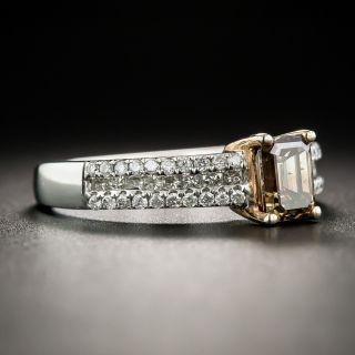 Natural Fancy Brown .86 Carat Emerald-Cut Diamond Ring