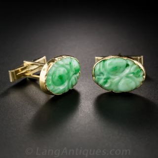 Natural Jade Cufflinks
