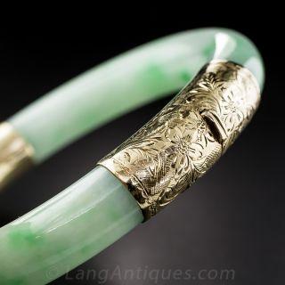 Natural Jadeite Bangle Bracelet - 1