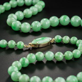 Natural Jadeite Bead Necklace