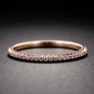 Natural Pink Diamond Band in 18K Rose Gold