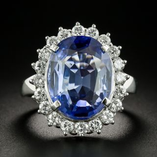No-Heat Ceylon Color-Change 11.80 Carat Sapphire and Diamond Ring - GIA - 1