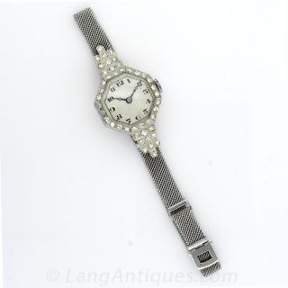 Octagonal Art Deco Diamond Ladies Watch