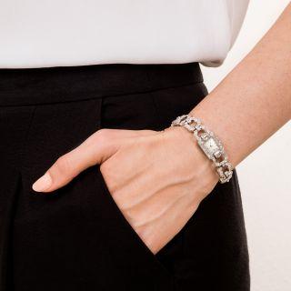 Omega Art Deco Ladies Bracelet Watch