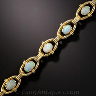 Opal Oval Link Bracelet