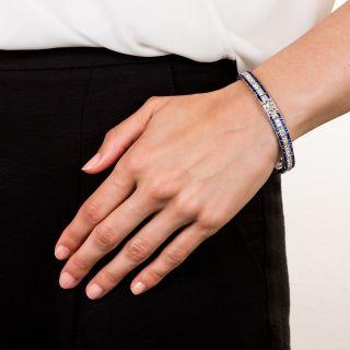 Oscar Heyman Art Deco Sapphire and Diamond Bracelet