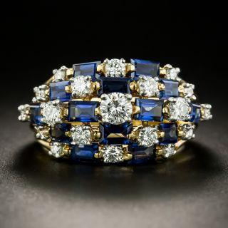 Oscar Heyman Diamond and Sapphire Cocktail Ring - 2