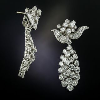 Oscar Heyman Diamond Cluster Drop Earrings - 1