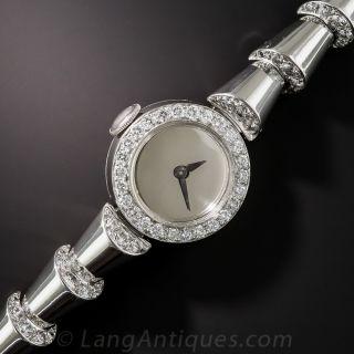 Oscar Heyman Platinum and Diamond Bracelet Watch - 3