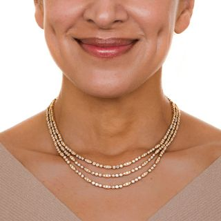 Oscar Heyman Triple-Strand Diamond Necklace - 22 Carats