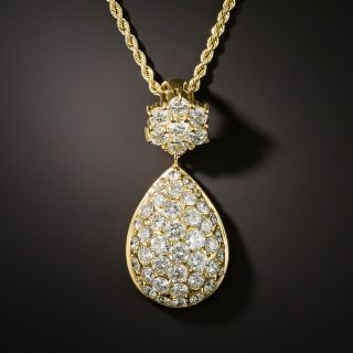 Pavé Diamond Pendant Necklace - 5.36 Carats - 1