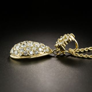 Pavé Diamond Pendant Necklace - 5.36 Carats