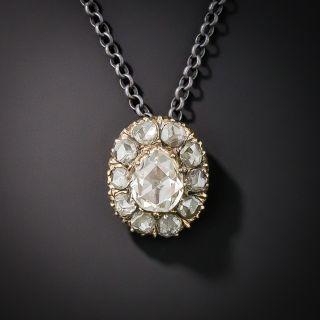 Pear Shaped Rose-Cut Diamond Drop - 1